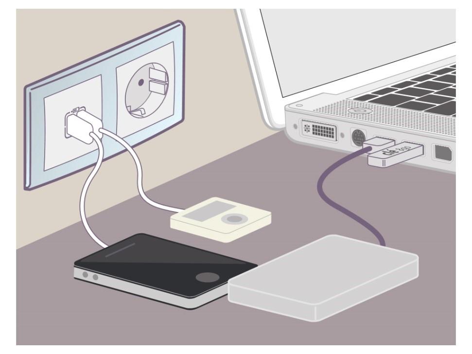 USB töltő aljat